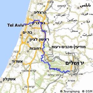 Tel Aviv to Jerusalem Bikemap Your bike routes