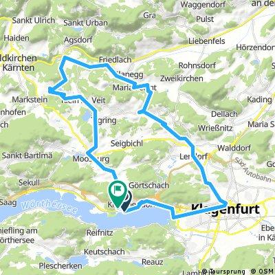 Lengthy bike tour through Gemeinde Krumpendorf am Wörthersee