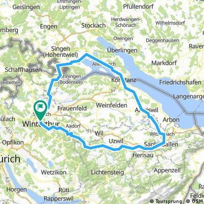 Winterthur - St Gallen - Konstanz - Radolfzell - Winterthur