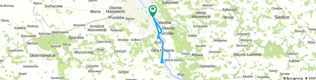 Lengthy bike tour through Warsaw