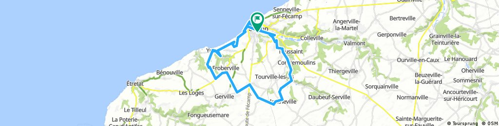 Long ride through Fécamp
