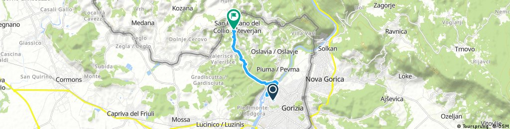 Short bike tour through San Floriano del Collio / Števerjan