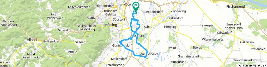 Erste Runde Guntramsdorf - Laxenburg
