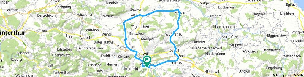 Rundfahrt Rickenbach,Lomis,Affeltrangen,Märwil,Mettlen,Zuzwil,Henau,Niederstette.n