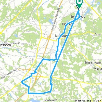 Lengthy bike tour through East Brunswick