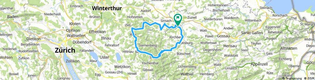 Rundkurs: Müselbach, Hulftegg, Turbentahl, Littenheid