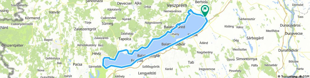 Lengthy bike tour through Balatonkenese