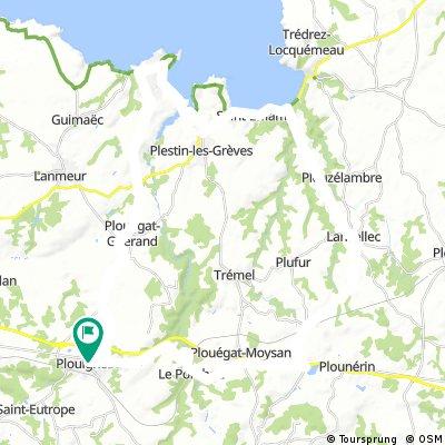 Parcours Finistère-Côtes d'Armor
