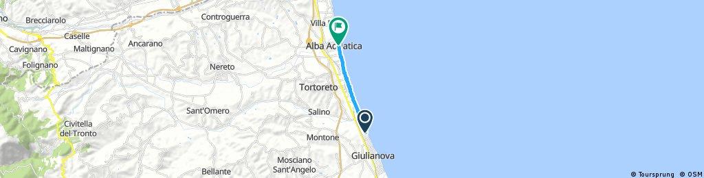 Short ride through Alba Adriatica