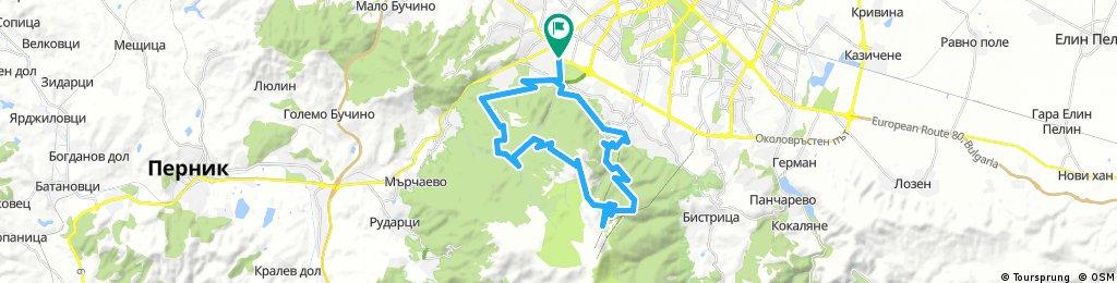 Long bike tour through Sofia