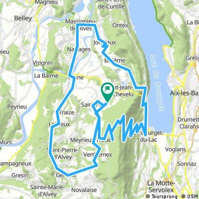 Route Mont du Chat