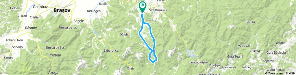 Lengthy bike tour through Brădet
