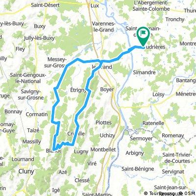Route Baudrières (83 km, 780 hm)
