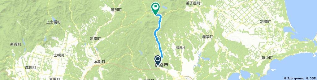 Lengthy bike tour through Kushiro