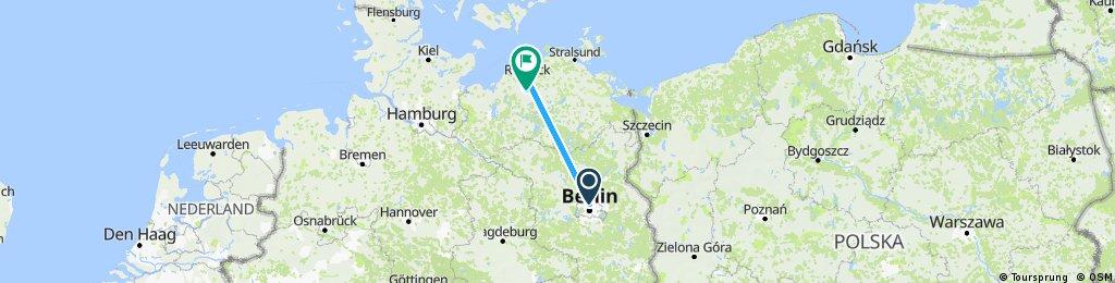 Radrunde von Berlin nach Schwaan