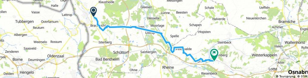Lange Ausfahrt von Nordhorn nach Ibbenbüren