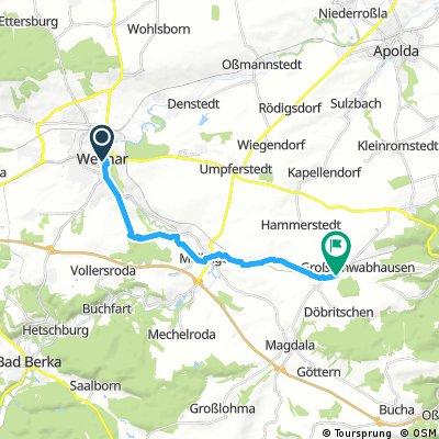 Radrunde von Weimar nach Großschwabhausen