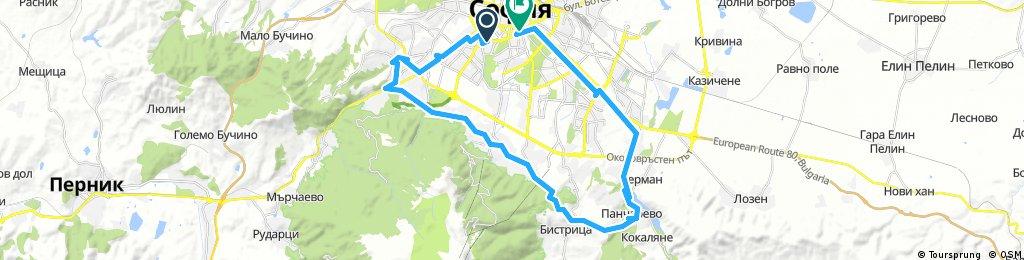 Long bike tour through Sredec