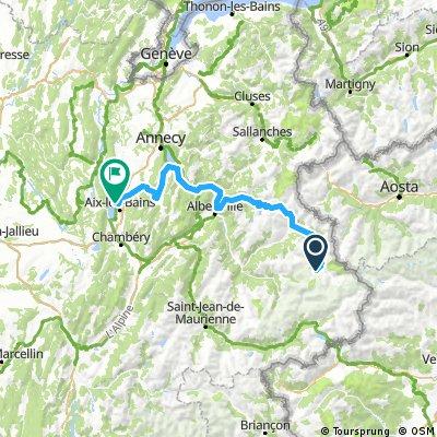 Tignes to Brison via Lac d'Annecy