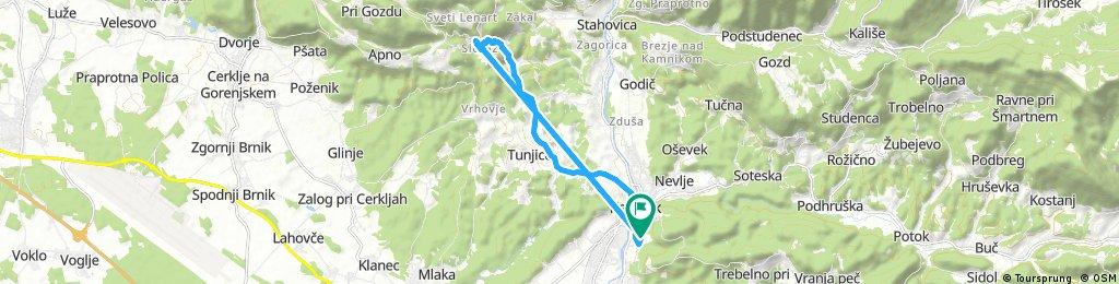 Brief bike tour through Kamnik