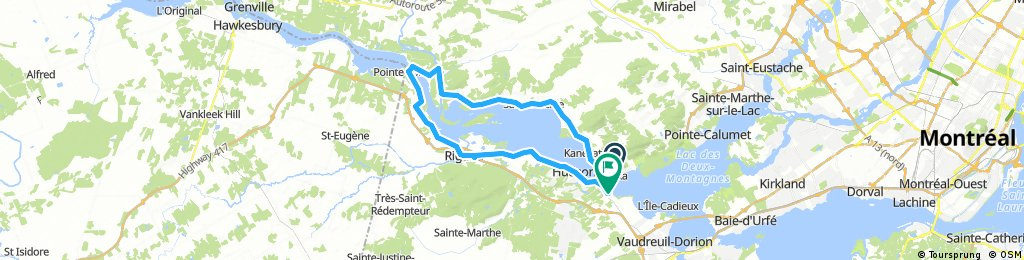 Long bike tour through Oka