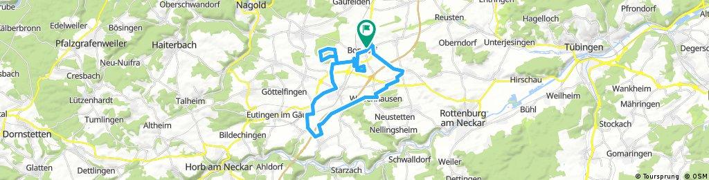 Lange Ausfahrt durch Bondorf
