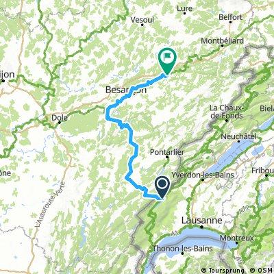 ETAPE 1  de Le Pont - Besançon - Le Doubs - Pontarlier - Le Pont