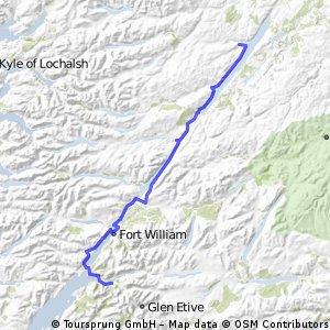 OXLEJOG Day 12 - Glencoe  to Loch Ness