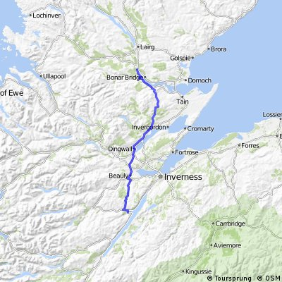OXLEJOG Day 13 - Loch Ness  to Carbisdale