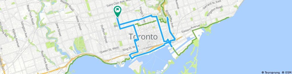 ride through Toronto