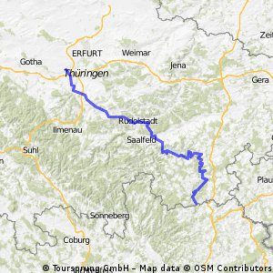 3. Etappe Blankenstein - Neudietendorf
