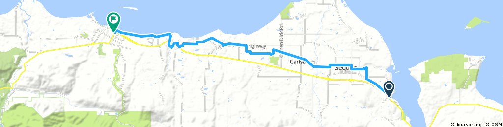 Lengthy ride from Sequim to Port Angeles