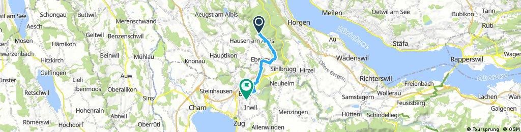 Albishorn Rüteli Baar Heimfahrt
