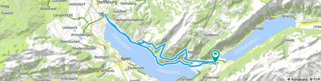 Lange Radrunde durch Interlaken