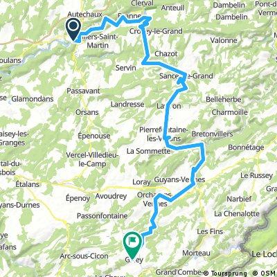 ETAPE 2 de Le Pont - Besançon - Le Doubs - Pontarlier - Le Pont