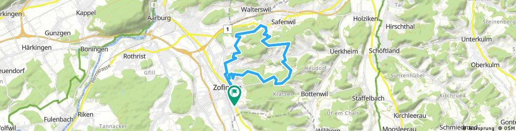 Zofingen - Graben - Hochwacht - Atemweg - Bühnenberg