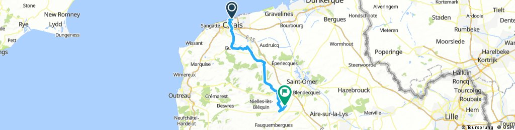 Day 2: Calais to Remilly-Wirquin