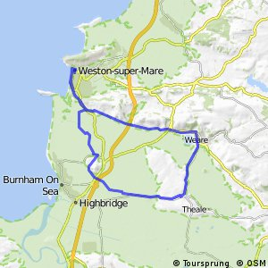 Cycling routes and bike maps in and around WestonsuperMare