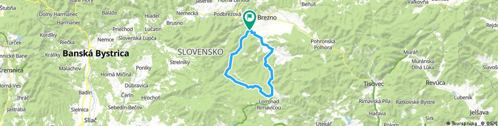 Lengthy ride through Čierny Balog