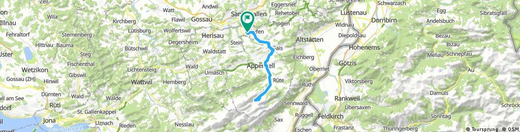 Lange Ausfahrt durch Niederteufen