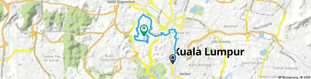 ride through Kuala Lumpur