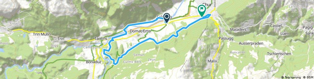 Radrunde von Domat/Ems nach Chur