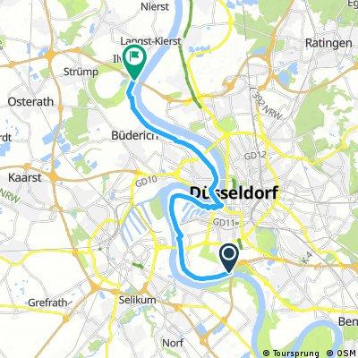 Radrunde von Düsseldorf nach Meerbusch