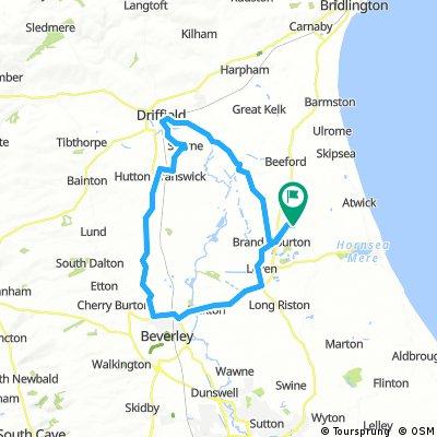 Lengthy bike tour through Driffield