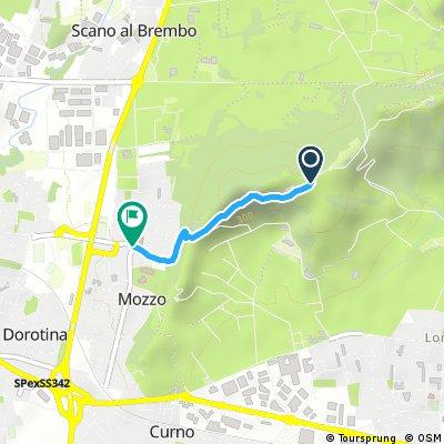Il Sentiero di Via Bagnada a Mozzo