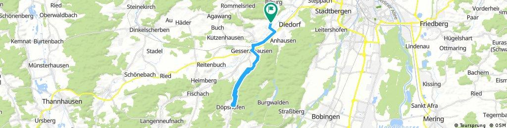 Radrunde durch Diedorf