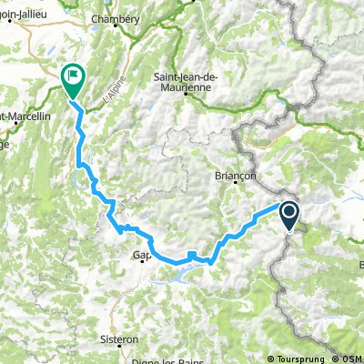 10/ Col Agnel - Guillestre - Gap - Col du Noyer - La Mure - Grenoble