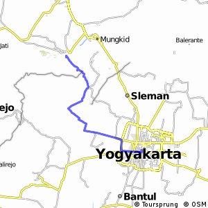 Cycling Routes And Bike Maps In And Around Yogyakarta Bikemap - Yogyakarta map