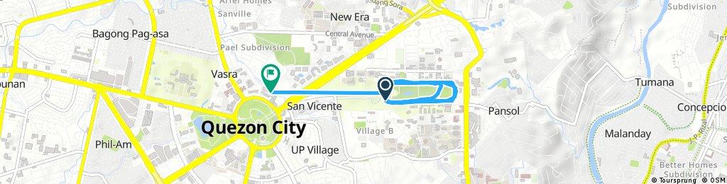 Jog at U.P. Quezon City