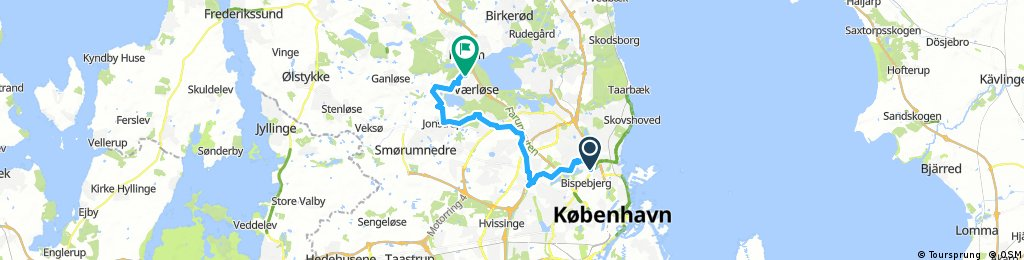 Long ride through Farum